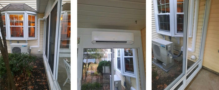 Ductless System For Patio